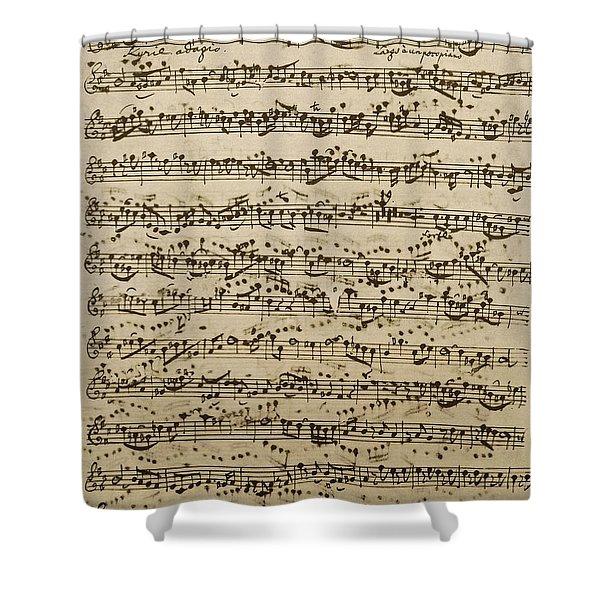 Handwritten Score For Mass In B Minor Shower Curtain