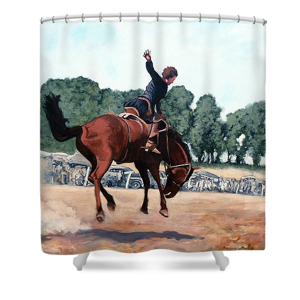 Hang On Hastings Shower Curtain