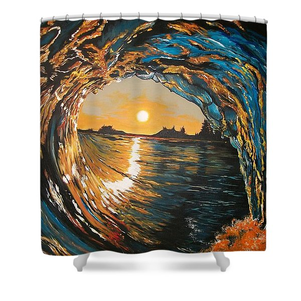Hang Ten In Tofino Shower Curtain