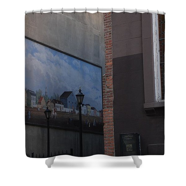 Hanging Art In N Y C Shower Curtain by Rob Hans