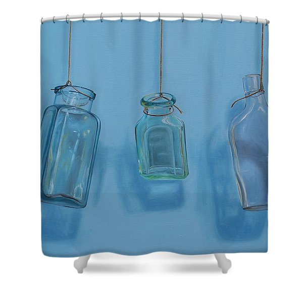 Hanging Bottles Shower Curtain