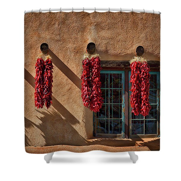 Hanging Chili Ristras - Taos Shower Curtain