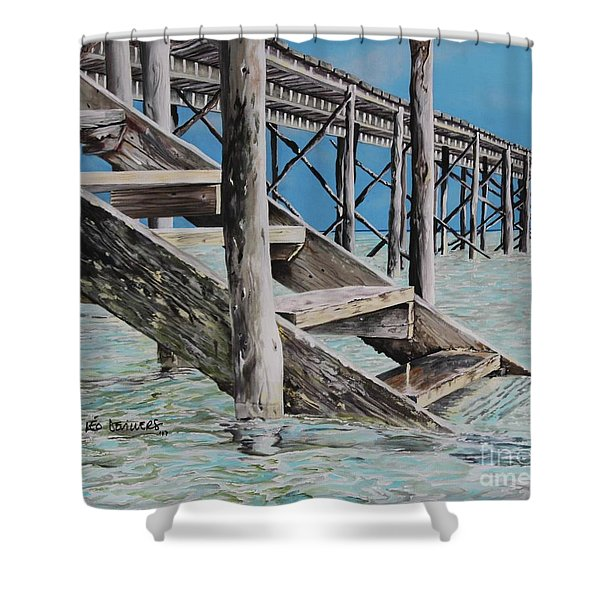 Hanging Out At Cherokee Long Dock Shower Curtain