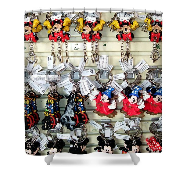 Hanging Out With Mickey And Minnie Shower Curtain