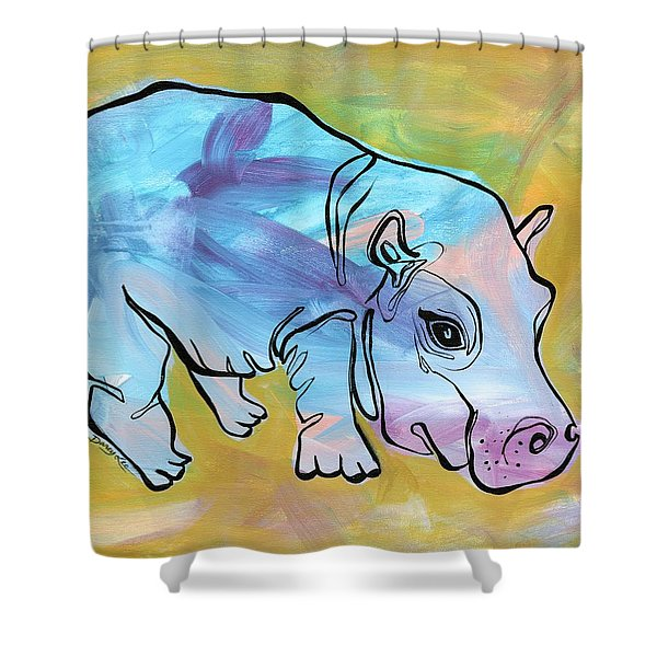Happily Hippo Shower Curtain