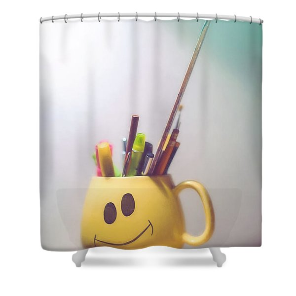 Happiness Is Shower Curtain