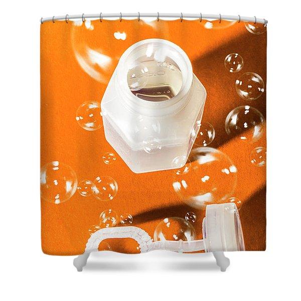 Happy Birthday Bubbles Shower Curtain