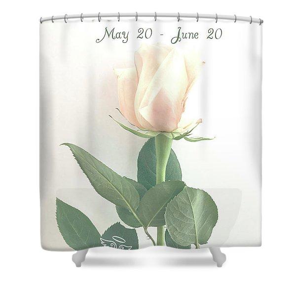Happy Birthday Gemini Shower Curtain