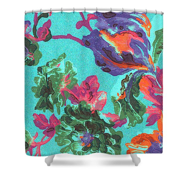 Happy Blooms Shower Curtain