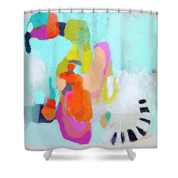 Happy Came To Visit Me Shower Curtain