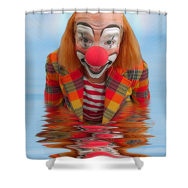 Happy Clown A173323 5x7 Shower Curtain