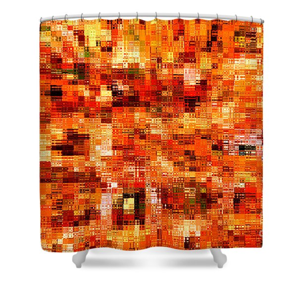 Happy Colors Abstract Shower Curtain by Carol Groenen