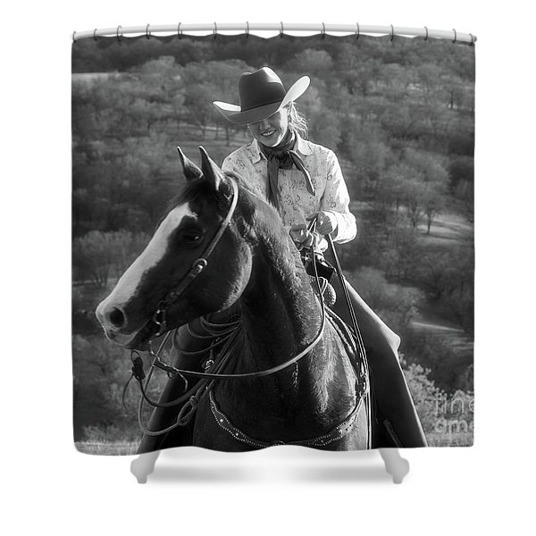 Happy Cowgirl Shower Curtain