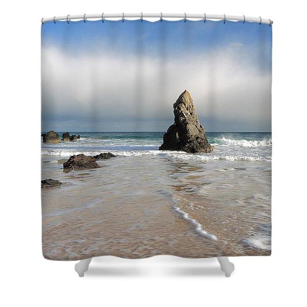 Happy Day On Sango Bay Shower Curtain