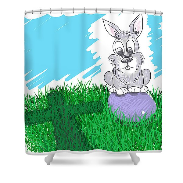 Shower Curtain featuring the digital art Happy Easter by Antonio Romero