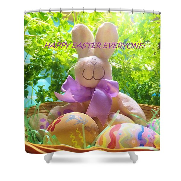 Happy Easter Everyone Shower Curtain