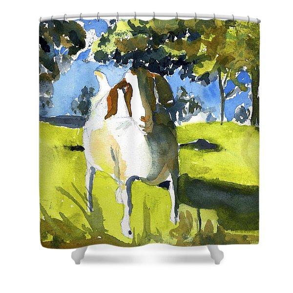 Happy Goat Shower Curtain