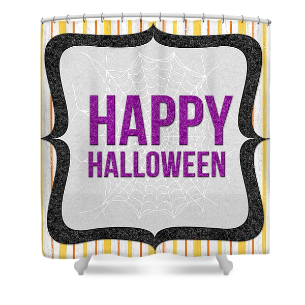 Happy Halloween-art By Linda Woods Shower Curtain