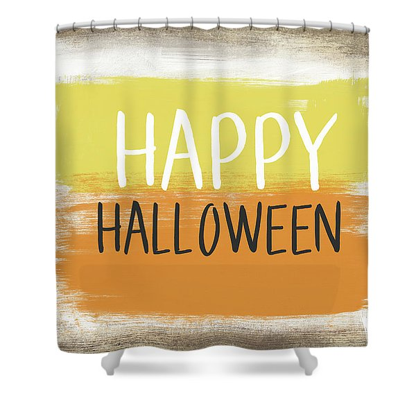 Happy Halloween Sign- Art By Linda Woods Shower Curtain