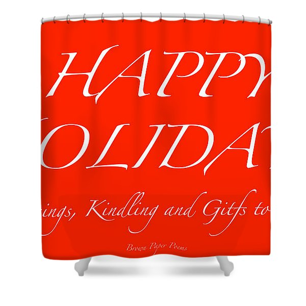 Happy Holidays - Day 1 Shower Curtain