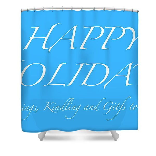 Happy Holidays - Day 5 Shower Curtain