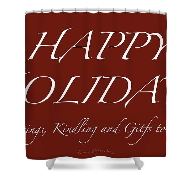 Happy Holidays - Day 6 Shower Curtain