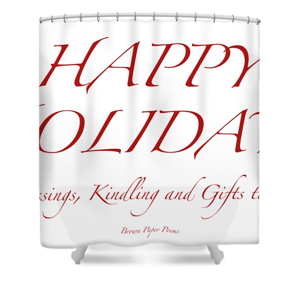 Happy Holidays - Day 8 Shower Curtain