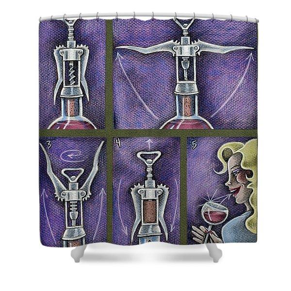 Happy Hour Calisthenics Shower Curtain