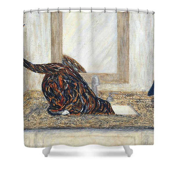 Shower Curtain featuring the painting Happy Hour by Kathryn Riley Parker