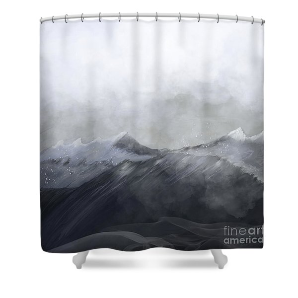 Happy In The Mountains Shower Curtain