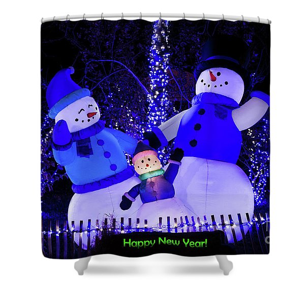Shower Curtain featuring the photograph Happy New Year by Andrea Silies
