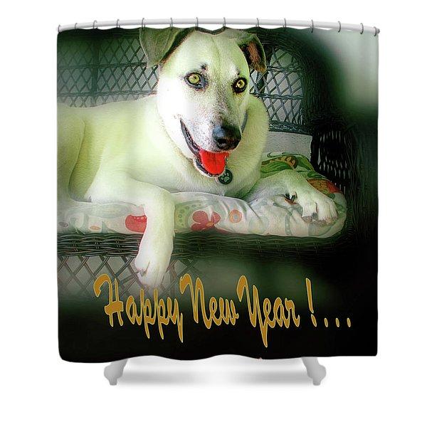 Happy New Year Art  Shower Curtain