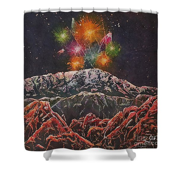 Happy New Year From America's Mountain Shower Curtain
