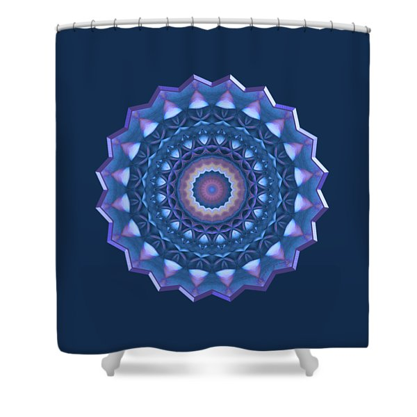 Happy To Be Blue Shower Curtain