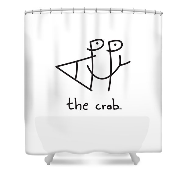 Happythecrab.com Shower Curtain
