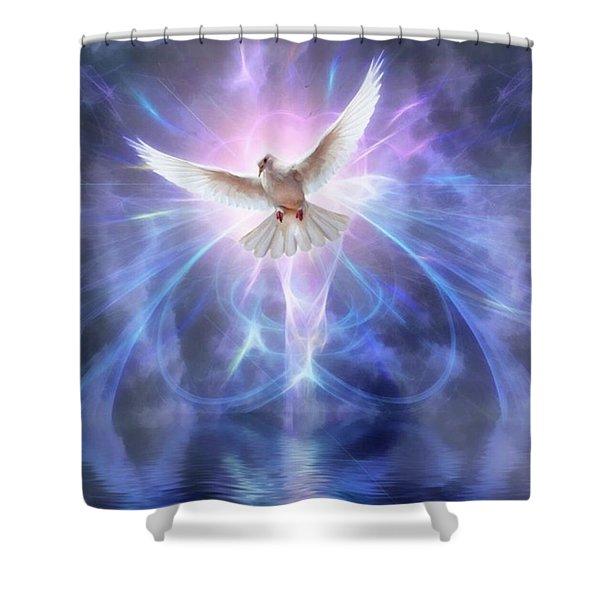 Harbinger II #fantasy #fantasyart Shower Curtain