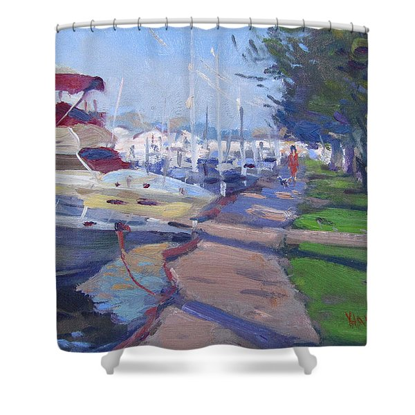 Harbor At North Tonawanda Shower Curtain