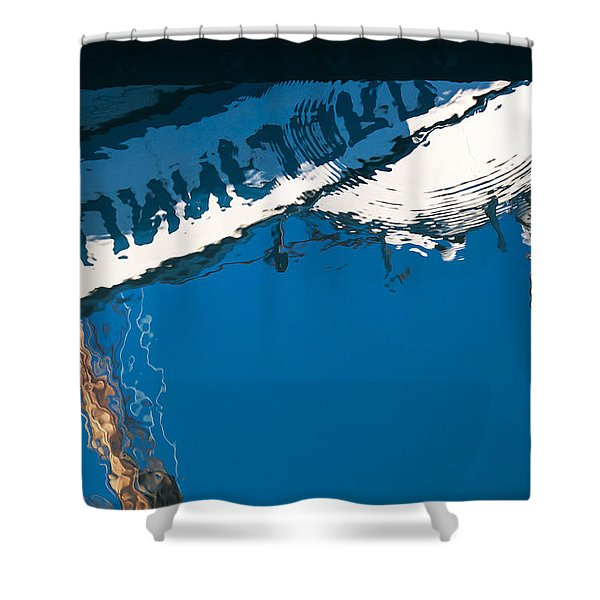 Harbor Blue Shower Curtain