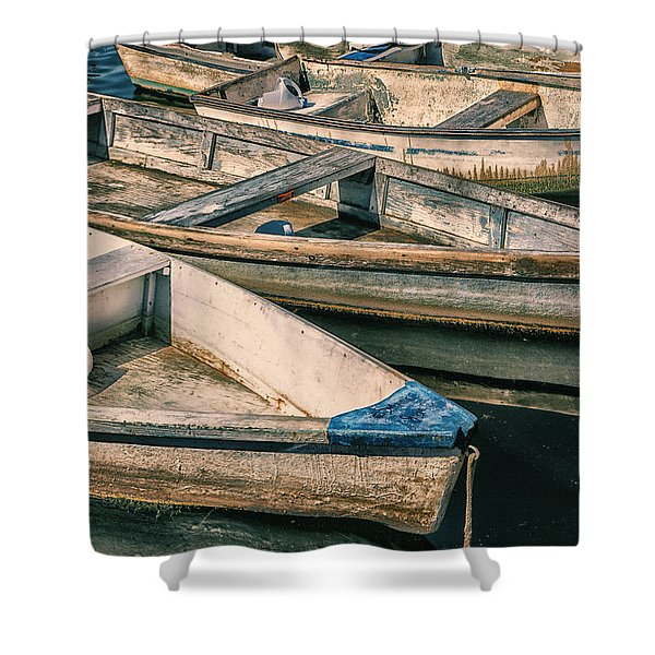 Harbor Boats Shower Curtain