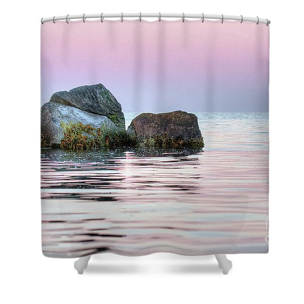 Harbor Breakwater Shower Curtain