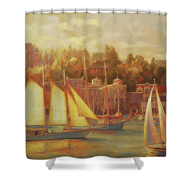 Harbor Faire Shower Curtain