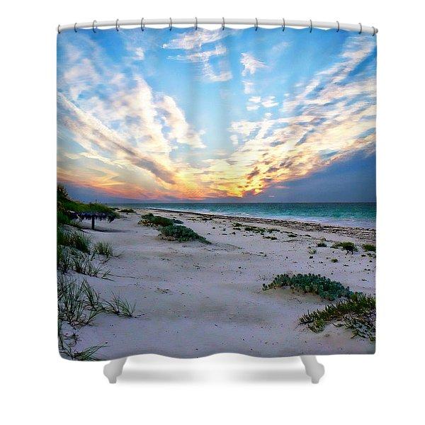 Harbor Island Sunset Shower Curtain