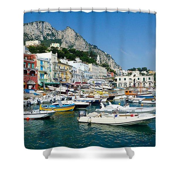 Harbor Of Isle Of Capri Shower Curtain