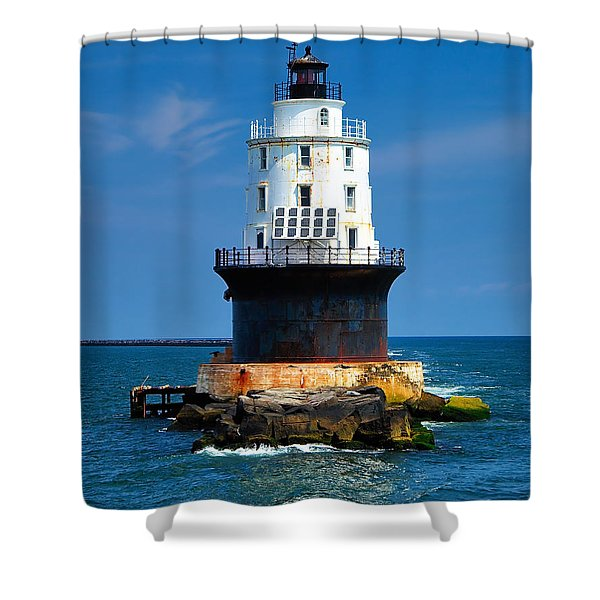 Harbor Of Refuge Lighthouse Shower Curtain