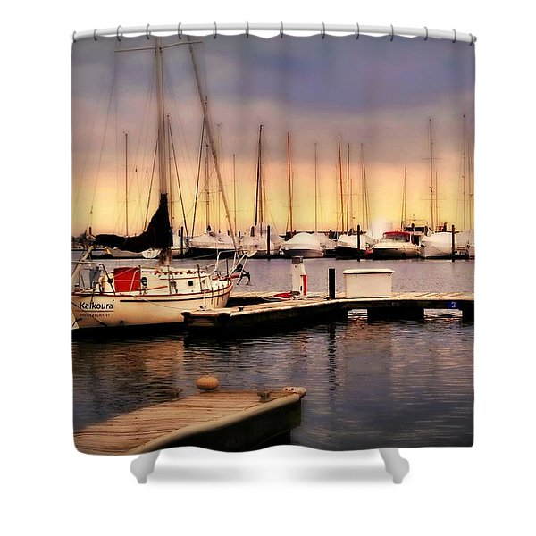 Harbor Point Stamford Shower Curtain