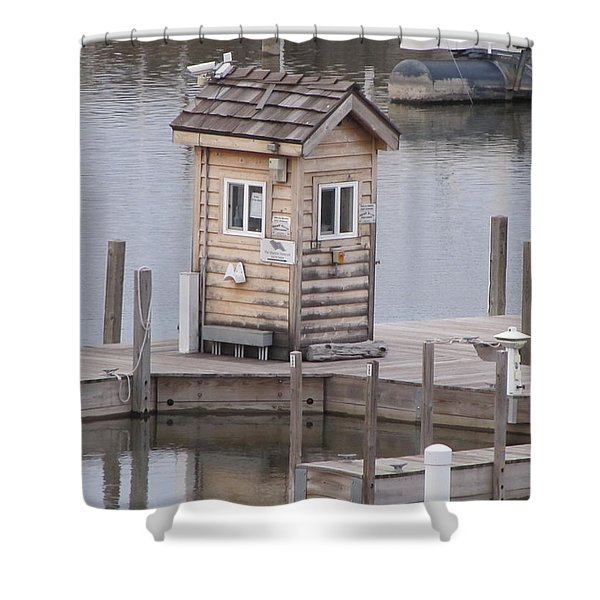 Harbor Shack Shower Curtain