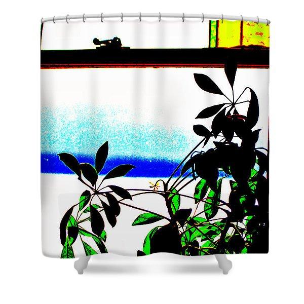 Harbor Side Window Shower Curtain
