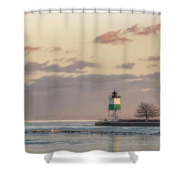 Harbour Sunset Shower Curtain