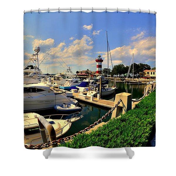 Harbour Town Marina Sea Pines Resort Hilton Head Sc Shower Curtain