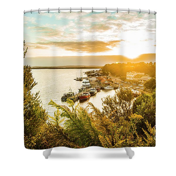 Harbouring A Colourful Vista Shower Curtain